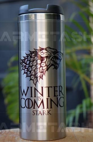 Termo Cilindrico Stark Winter Is Coming Game Of Thrones