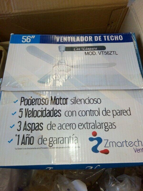 Ventilador De Techo Zmartech 56 Con Lampara