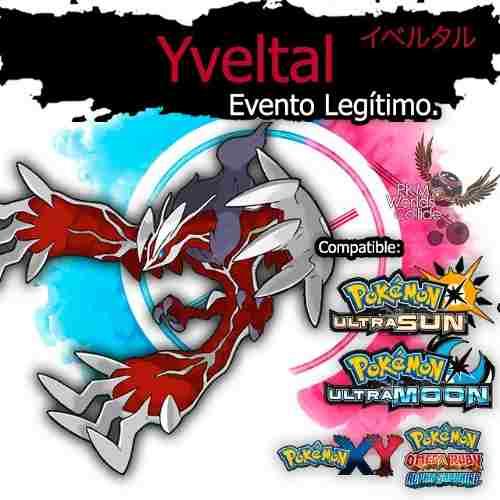 Yveltal Shiny Evento Especial Sol, Luna, X, Y, Or, As