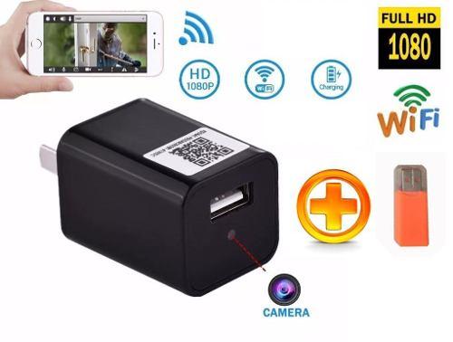 Cubo Cargador Camara Espia Seguridad Wifi Oculta Hd p