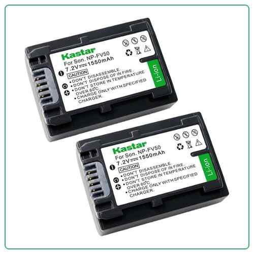 2 Baterias Pila Videocamara Np Fv50 P/ Sony Nex-vg10 Hdr-hc9