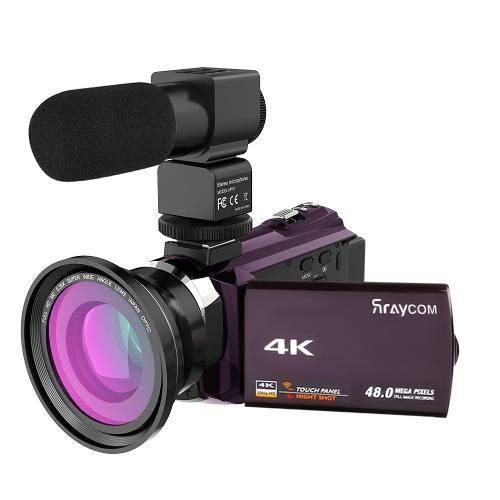 4k Vídeo De La Videocámara, Rraycom 48mp Wifi Videocámara