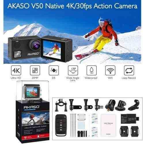Akaso V50 4k Hd 20mp Wifi Acción Dv Cámara Videocámara