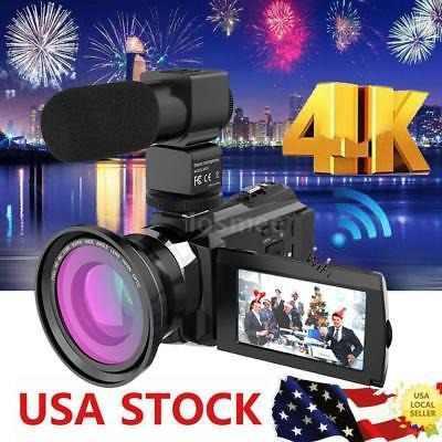 Andoer 3 '' 4k 1080p 48mp Wifi Videocámara Digital 16x Zoom
