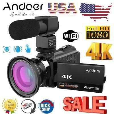 Andoer 4k Wifi 1080p Hd 48mp 16x Videocámara Digital Videoc