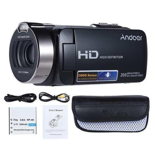 Andoer Pro Vídeo Hdv-312p Videocámara Completo Hd 1080p 20