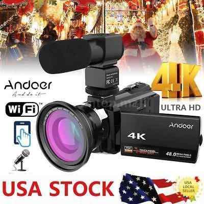Andoer Wifi 4k Hd 1080p 48mp 3 '' Grabadora De Videocámara