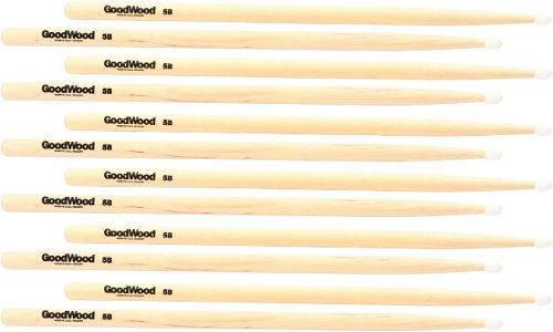Baquetas Para Bateria Goodwood (by Vater) 5b Nylon (6 Pares)