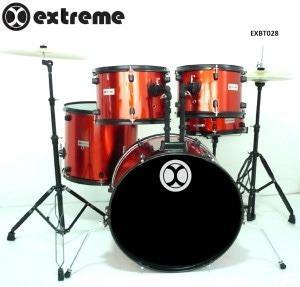 Bateria Extreme 5 Piezas Exbt028 Roja