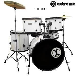 Bateria Extreme 5 Piezas Exbt035 Blanca