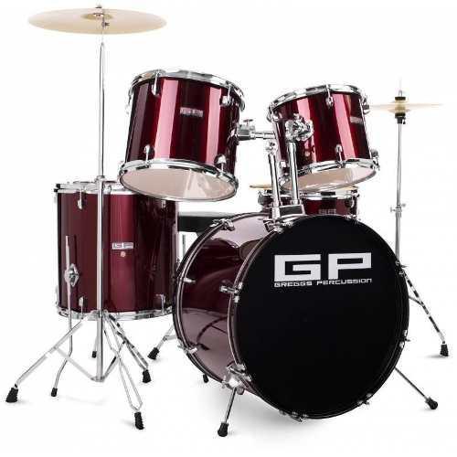 Bateria Greggs Percussion Vinio 5 Piezas, Platillos Y Banco