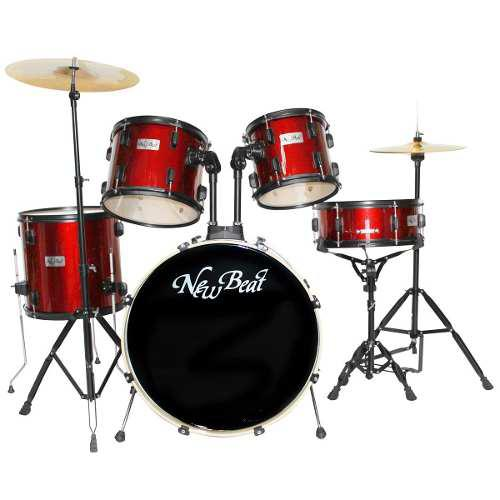 Bateria New Beat Acustica Nb320set Bkhw