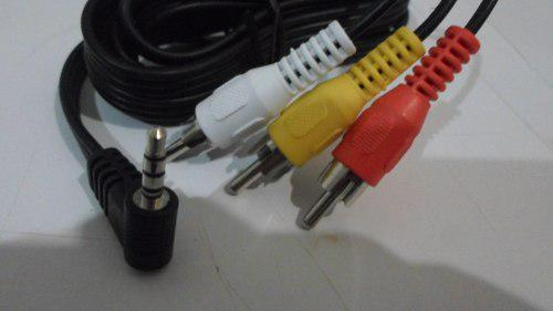 Cable Para Videocamara De Conector Macho 3.5mm A 3 Rca Macho