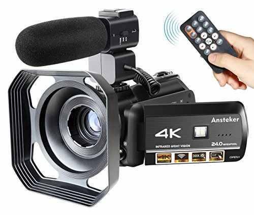 Camara De Video Videocamara Ansteker 4k Grabadora Ultra-hd 2