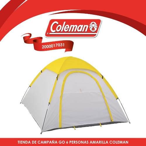 Casa De Campaña Go 6 Personas Amarilla Coleman