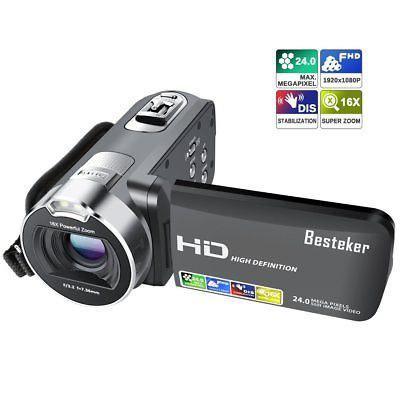 Cámara Videocámara Grabadora Besteker 1080p 24m 16x Hd Zoo