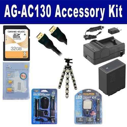 El Kit De Accesorios De La Videocámara Panasonic Ag-ac130