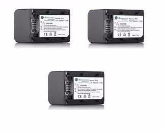 Kit 3 Baterías Fh-100 Para Sony Handycam Videocamara