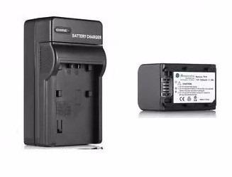 Kit Cargador + 1 Batería Fh-100 Para Sony Videocamara