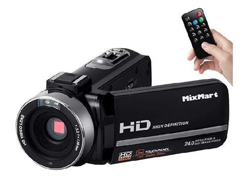 Mixmart Videocámara, Camcorder Fhd 1080p Con 30fps 24mp