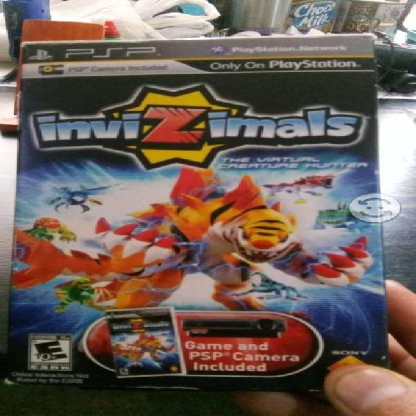 Paquete de camara y video juego invizimal para psp
