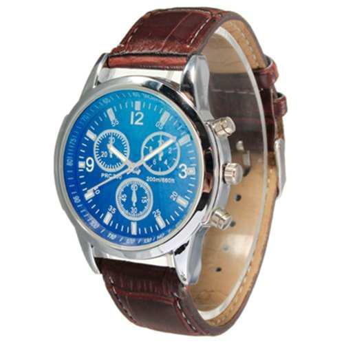 Reloj Analogo De Pulsera Tipo Yazole Azul Hombre M9102