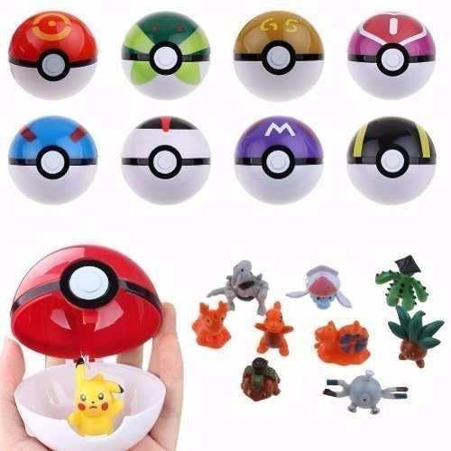 Set 9 Pokebolas 9 Muñecos Pokemon Envió Gratis!! + Regalo