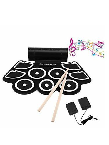Set Bateria Electronica Portable Percucion Tambor