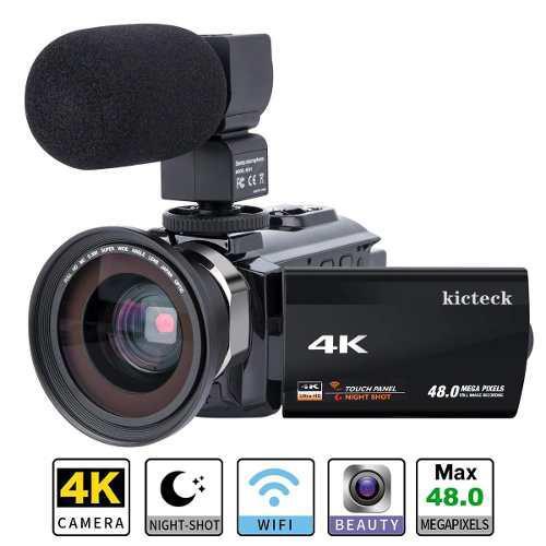 Vídeo Cámara De La Videocámara 4k Kicteck Ultra Hd Digita
