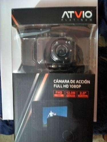 Videocamara De Accion Atvio Fullhd Con Accesorios