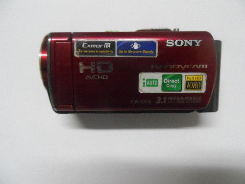 Videocamara Sony Handycam Hdr-cx110 Color Rojo Completa