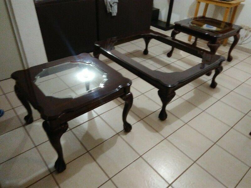 Juego de mesas para sala (3 piezas)