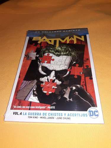 Batman Rebirth Volumen 4: La Guerra De Chistes Y Acertijos