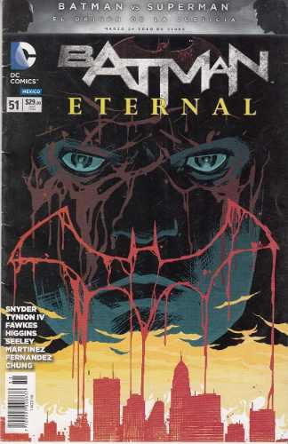 Comic Batman Eternal # 51 Con Carton Y Bolsita Español