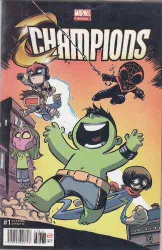 Comic Champions # 1 Variante Nuevo Carton Y Bolsita Español