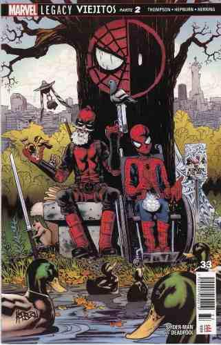 Comic Marvel Legacy Spider-man Deadpool # 33 Viejito 2