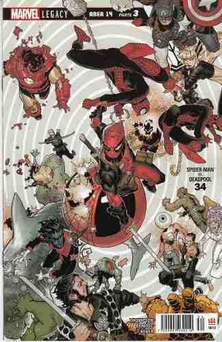 Comic Marvel Spider-man /deadpool # 34 Carton Y Bolsa