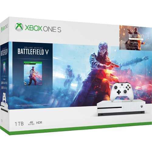 Consola Microsoft Xbox One S 1tb + Juego Battlefield V