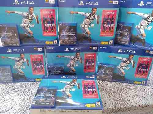 Consola Play Station 4 Slim Fifa 2019 1 Tb Ps4 Facturamos!!