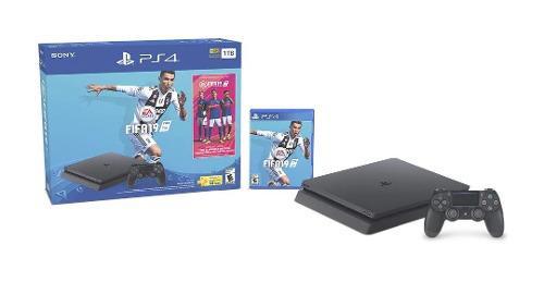 Consola Ps4 Slim, 1 Tb Con Juego Fifa 19 Y Control Incluido