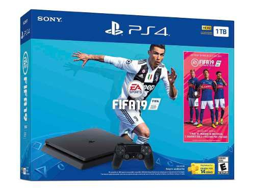 Consola Ps4 Slim 1tb Hdr Negro Fifa 19 Pack Ultimate Team
