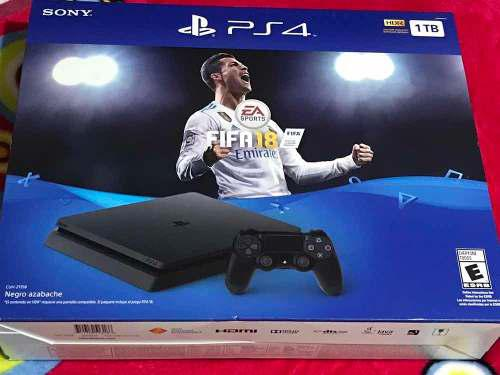 Consola Ps4 Slim Play Station 1tb Juego Y 2 Controles