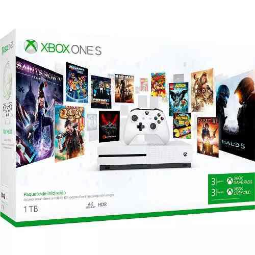 Consola Xbox One S, 1tb + Game Pass 3 Meses + Live 3 Meses
