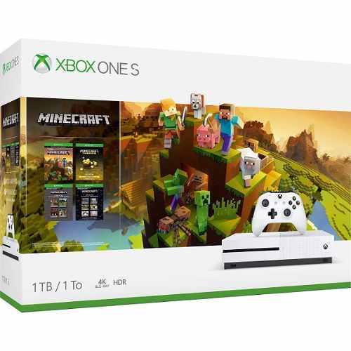 Consola Xbox One S 1tb Minecraft Holiday::..