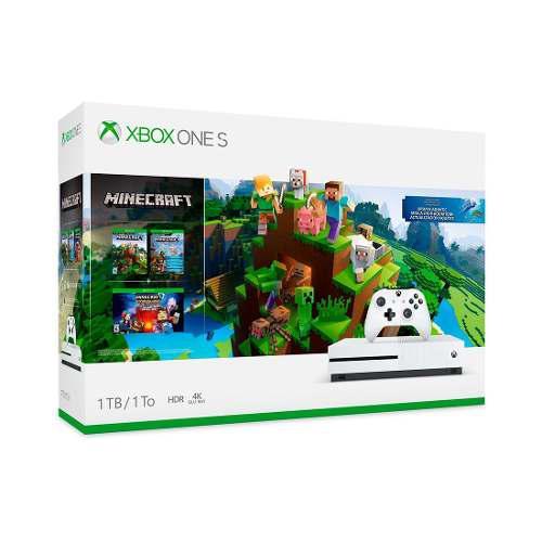 Consola Xbox One S Blanco 1tb Más Paquete Minecraft