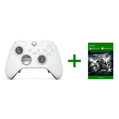 Control Xbox One Elite Blanco + Gears Of War 4 Nuevo