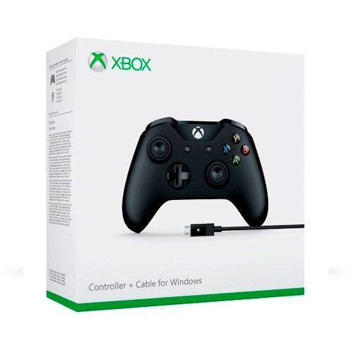Control Xbox One S Negro + Cable Sellado:. Bsg