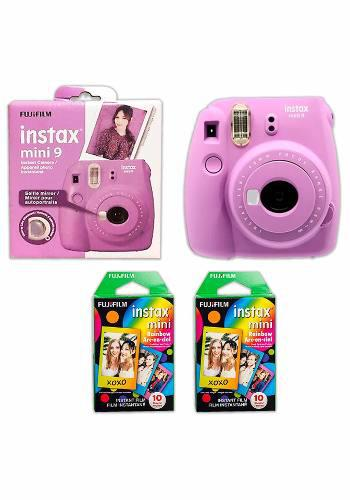 Fujifilm Instax Mini 20 Rollos + Camara Mini 9 Violeta