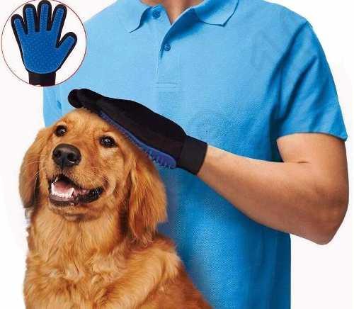 Guante Para Cepillar Mascotas True Touch Perro Gato