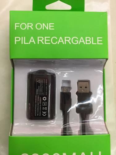 Kit Carga Y Juega Consola Microsoft Xbox One Bateria Y Cable